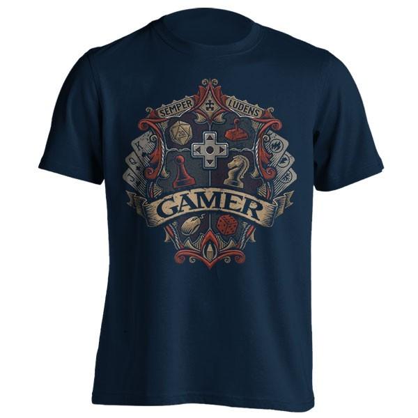 تیشرت با طرح Gamer Crest