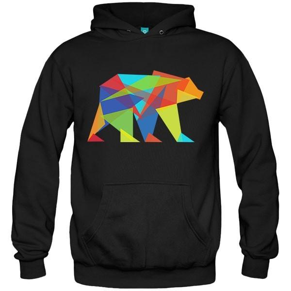 سویشرت هودی Fractal geometric bear