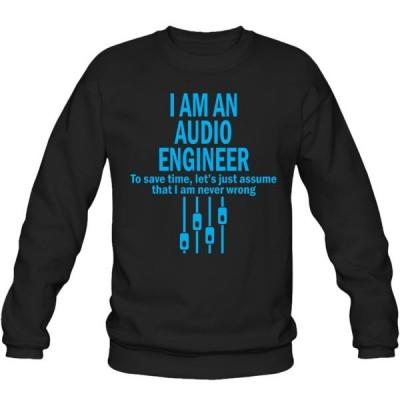 سویشرت یقه گرد I AM AN AUDIO ENGINEER