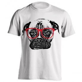 تیشرت Boxer Dog with Glasses