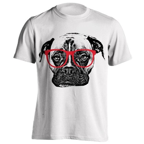 تیشرت Boxer Dog with Glasses
