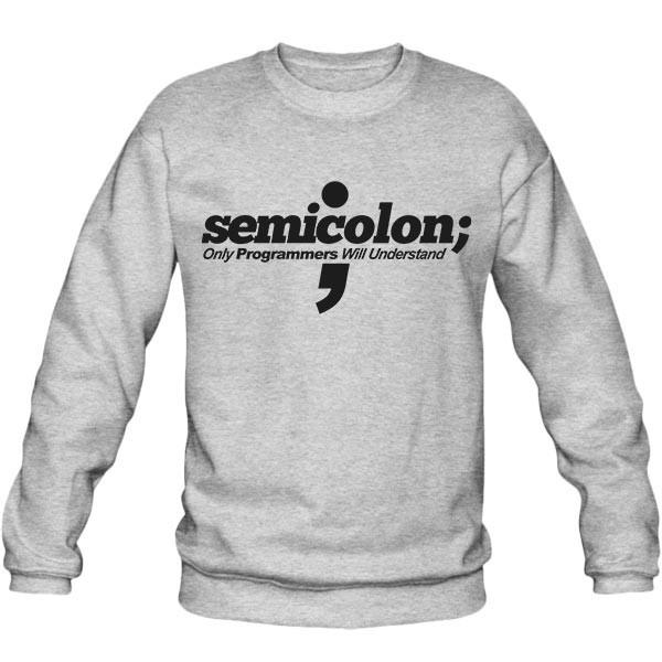 سویشرت یقه گرد Programmer - Semicolon