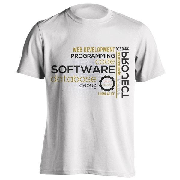 تیشرت Typography Programming