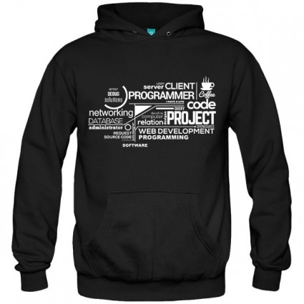 سویشرت هودی Typography Programming