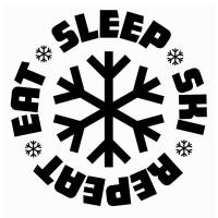 سویشرت یقه گرد Eat Sleep Ski Repeat