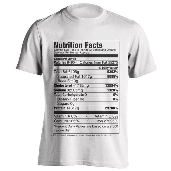 تیشرت طرح Human Nutrition Facts