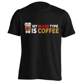 تیشرت طرح My Blood Type is Coffee