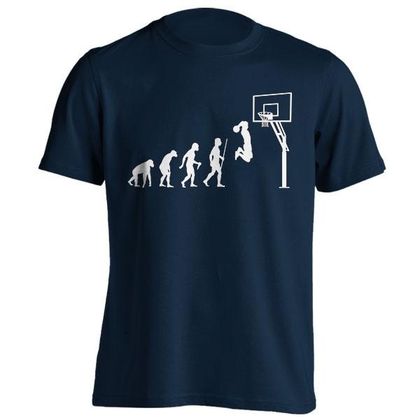تیشرت طرح Funny Basketball Evolution
