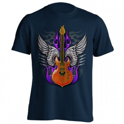 تیشرت طرح Tattoo Guitar Wing