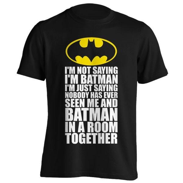 تیشرت گرافیکی طرح I'm Not Saying I'm Batman