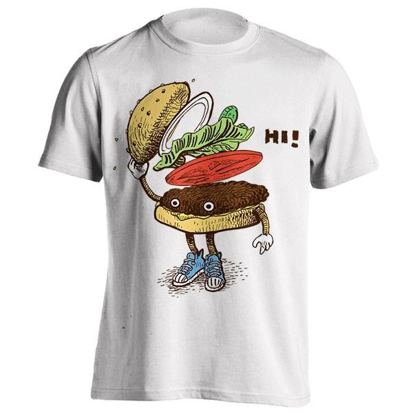 تیشرت طرح Burger Greeting