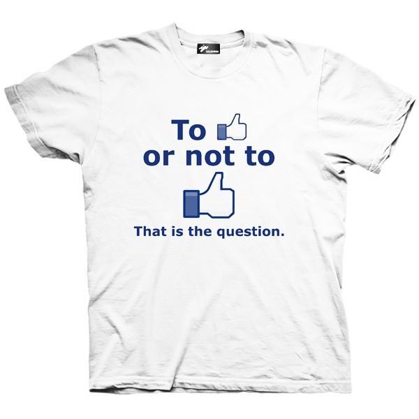 تیشرت گرافیکی طرح To like or not to like