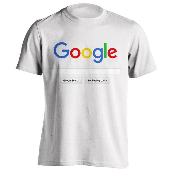 تیشرت گوگل با جستجوی سفارشی