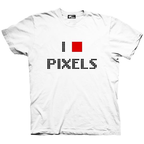 تیشرت گرافیکی طرح I love pixels