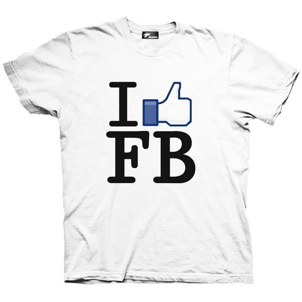 تیشرت گرافیکی طرح I like Facebook