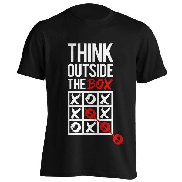 تیشرت طرح Think outside the box