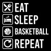 تیشرت طرح Basketball Eat Sleep Repeat
