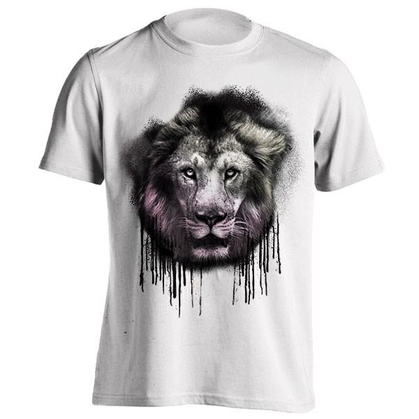 تیشرت طرح Lion Splatter