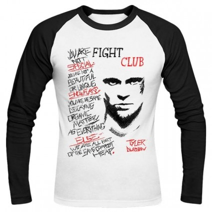 تی‌شرت آستین بلند رگلان طرح Fight Club