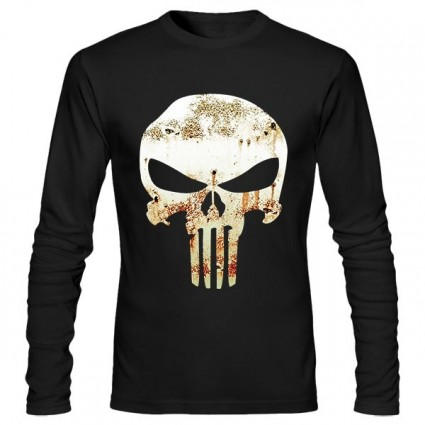 تی‌شرت آستین بلند طرح Punisher