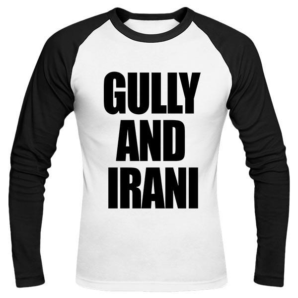 تیشرت آستین بلند رگلان طرح GULLY AND IRANI
