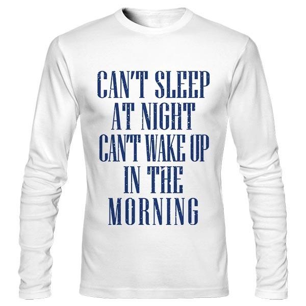 تیشرت آستین بلند طرح Can't Sleep At Night