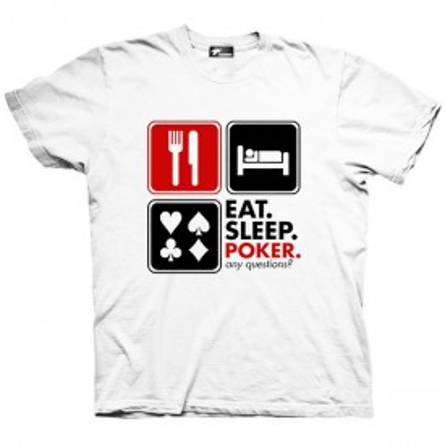 تیشرت گرافیکی طرح Eat Sleep Poker