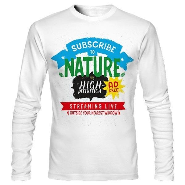 تیشرت آستین بلند طرح Nature Live