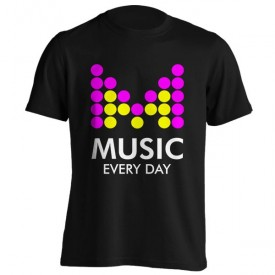 تی‌شرت طرح Music Every Day