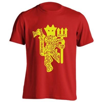 تیشرت طرح Glory Glory Manchester United