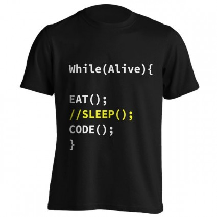تی‌شرت طرح While Alive Eat Sleep Code Repeat