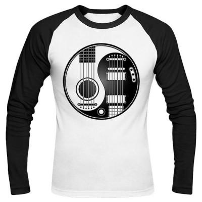 تیشرت آستین بلند رگلان طرح گیتار الکتروآکوستیک