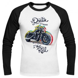 تی‌شرت آستین بلند رگلان طرح Motorcycle dream