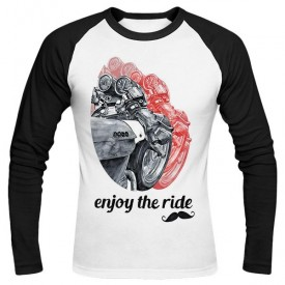 تیشرت آستین بلند رگلان طرح Gentleman ride