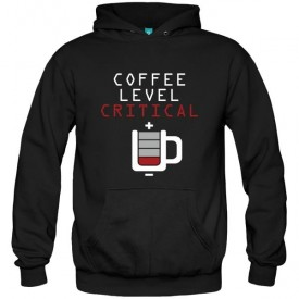 سویشرت هودی طرح قهوه Coffee Level Critical