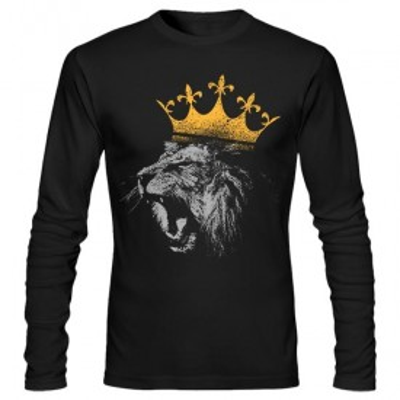 تیشرت آستین بلند طرح king of the jungle lion