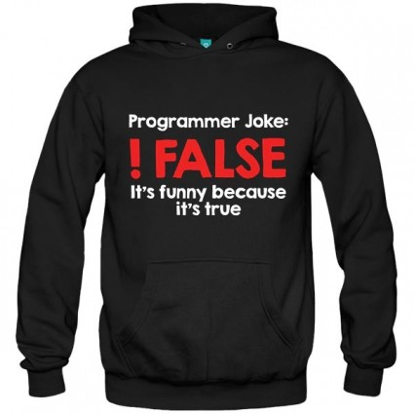 سویشرت هودی طرح Programmer Joke !False