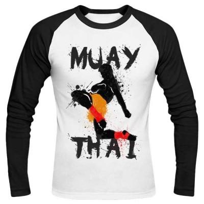 تیشرت آستین بلند رگلان طرح Muay Thai Fighter