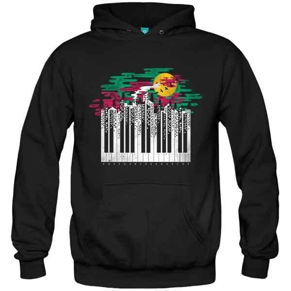سویشرت هودی طرح Piano city