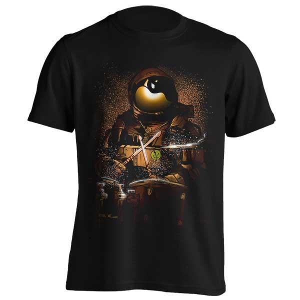 تیشرت طرح Astronaut space drummer