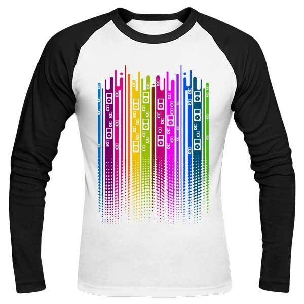 تیشرت آستین بلند رگلان طرح Color is Music