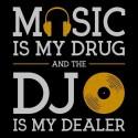تیشرت طرح Music Is My Drug