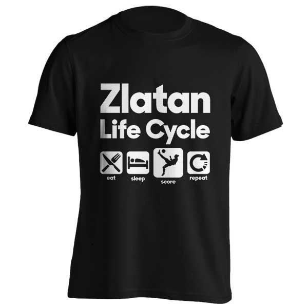 تیشرت طرح Zlatan Ibrahimovic Life Cycle