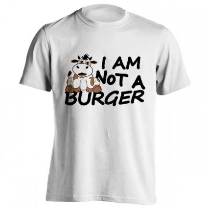 تیشرت طرح I am not a BURGER