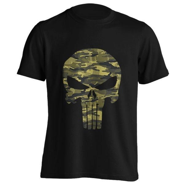 تیشرت طرح Punisher Skull Camouflage