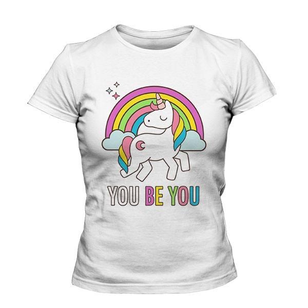 تیشرت دخترانه طرح You Be You Unicorn