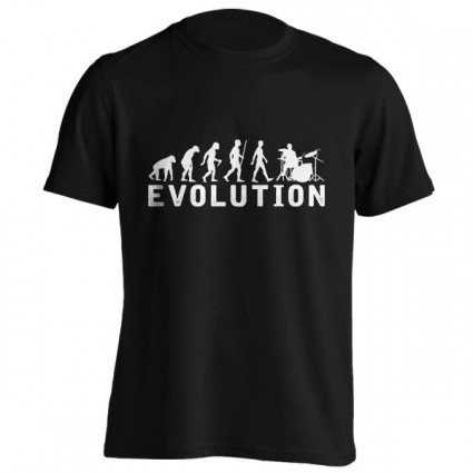 تیشرت طرح Drums Drummer Evolution