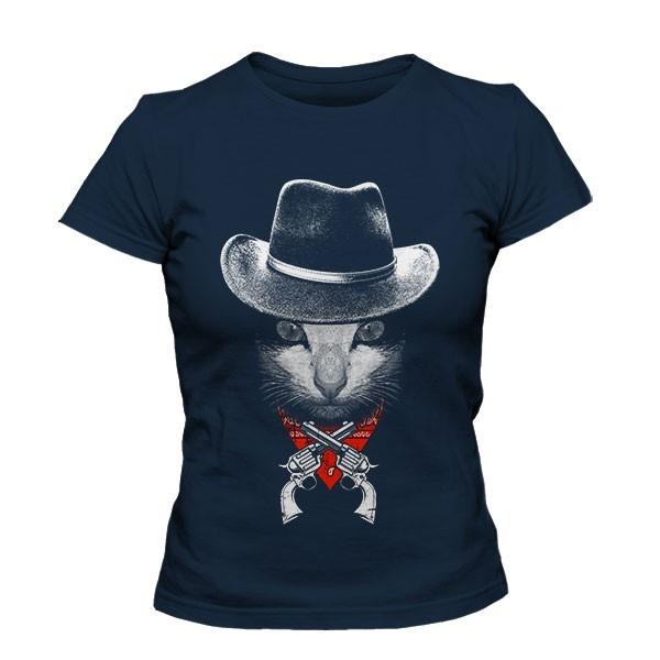 تیشرت دخترانه طرح The Cowboy Cat