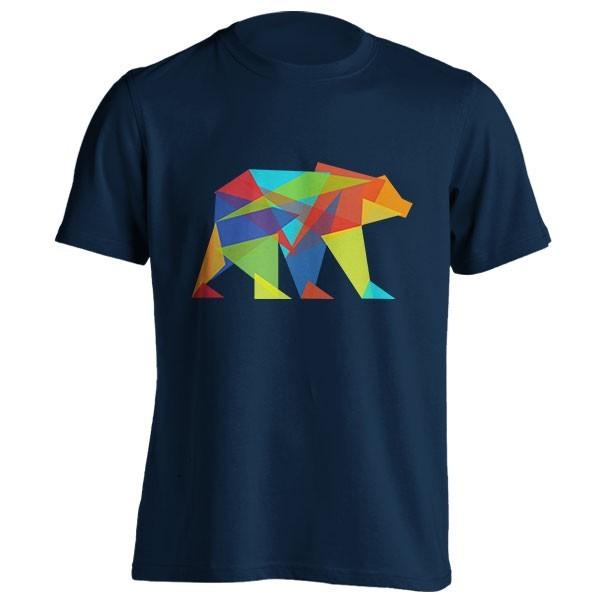 تیشرت طرح Fractal geometric bear
