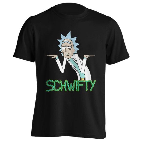 تیشرت طرح Schwifty
